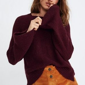 NWT Madewell Wide Sleeve Pullover Sweater Small